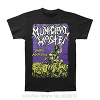 82db7e369d8 New Arrival. Popular Style Man T-shirt Municipal Waste Men    S Massive  Aggressive On Black T-shirt Black. US  12.08   Piece
