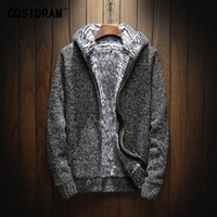 COSIDRAM 2018 Winter Fashion Knitting Hoodies Warm Thick Men...