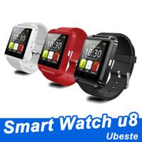 Orologio sellingsmart caldo telefono u8 bluetooth 4.0 smartwatch per iphone android phone con confezione regalo