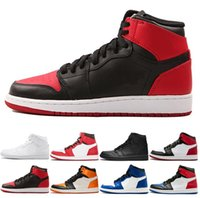 New Top Quality 1 OG High Banned Black Red White Men Basketb...