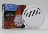 كاشف الدخان إنذارات نظام استشعار إنذار الحريق كاشفات لاسلكية منفصلة أمن الوطن حساسية عالية مستقرة LED مع بطارية 9V LLFA