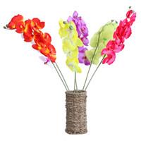 Flor decorativa DIY Artificial Moth Orchid Flor boda y decoración del hogar flores decorativas guirnaldas E5M1