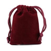 السفينة حرة 200 قطع النبيذ الأحمر عالية الجودة حقيبة مجوهرات حقائب المخملية حفل زفاف أكياس الحلوى هدية عيد الميلاد