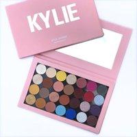 2021 Top Calidad Kylie Jenner Shadow Shadow Cosmetics Maquillaje Magnético Vacío Gran Pro Paleta 28 Colores Sombra de ojos Paletas