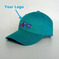 Bent ağız 6 paneller mavi özel renk unisex boyutu 3D nakış ayarlanabilir popüler beyzbol spor kap snapback yakın özel şapka