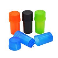 플라스틱 분쇄기 메드 컨테이너 3 부분 담배 향신료 분쇄기 분쇄기 허브 42mm 직경 흡연 주방 액세서리