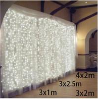 3x1 / 3x2 / 4x2m LED-Eiszapfen-Zeichenketten-Weihnachts-Fairy-Lichter Girlande im Freien Haus für Hochzeit / Party / Vorhang / Gartendekoration