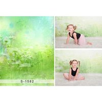 Pano de Fundo Cor Pastel para Newborn Fotografia Impresso Girassóis Adereços Chuveiro Do Bebê Pintura A Óleo Foto Estúdio Fundos