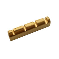 Massive Brass Slotted Cut Gitarrenmutter 43mm für 4-Saiter-Bassgitarre