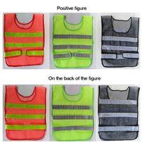Abbigliamento di sicurezza Giubbotto riflettente Giubbotto di griglia cava alta visibilità Gilet di sicurezza per il lavoro in cantiere