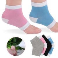 Gel hydratant pour spa, chaussettes à talons, soin des pieds, pied craquelé, protecteur dur, peau 2pcs / paire 4 couleurs