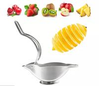 스테인레스 스틸 레몬 압착기 레몬 수동 과일 주 서기 견고한 라임 압착기 수동 라임 신선한 주스 도구
