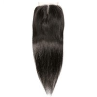 Human Bundles With Closure Remy Hair Straight Lace Closure 4...