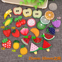 Mix multicolor DIY resin fruit vegetable charms flatback kaw...