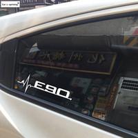 2pcs / lot janelas do carro desempenho de potência M E28 E30 E34 E36 E39 E46 E60 E61 E62 E90 E91 E92 LOGO etiqueta para BMW