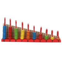 Kids Wooden Toys Child Abacus Counting Beads Maths Learning ...