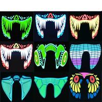 Sürücüsü Sabit Cadılar Bayramı LED Maskeler Giyim Büyük Terör Maskeler Soğuk Işık Kask Yangın Festivali Parti Parlayan Dans