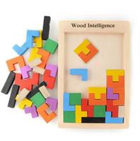 Colorful legno Tangram Rompicapo puzzle gioca il regalo del gioca Tetris gioco prescolare Magination intellettuale Formazione