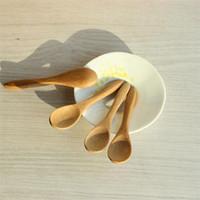 Оптовая новая кухня Использование Приправа Ложка Малый деревянный младенца Мед Spoon 9,2 * 2.0cm Бесплатная доставка