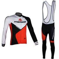 Merida Team Cycling Mangas largas Jersey transpirable y de secado rápido Professional Polyesterfabric Fashion Acepta la personalización Soft se puede mezclar Z40720