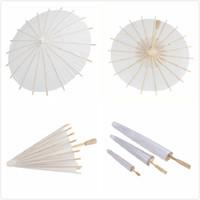 60 piezas nupcial boda sombrillas paraguas de papel blanco chino mini artesanía paraguas 4 diámetro: 20,30, 40,60 cm paraguas de la boda para la venta al por mayor