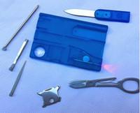Открытый Отдых Инструменты Красоты Швейцария Карточный Нож со светодиодной подсветкой Multifuntion Карта Выживания Швейцарский Нож 35 шт.