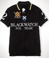 Бренд Ralph рубашки поло для мужчин команда Big Pony вышивка хлопок мода мальчики Поло черный часы номер 2 Черный Синий Красный Белый