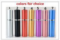 2019 새로운 무료 epacket에 5ml의 미니 휴대용 리필 향수 분무기 다채로운 스프레이 병 빈 향수 병 패션 향수 병