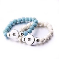 NOOSA Imitate Turquoise Pearl Beads Bracelets Female 18mm Sn...