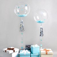 18 Inch Transparent Balloons With Tassel Party Birthday Wedd...