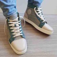 2018 Marque de qualité supérieure Designe ROUGE SEMELLE ORLATO FLAT SNEAKERS FORMATEURS Automne Automne Mode Sneakers Homme Femme Chaussures