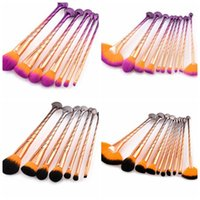 Shell Makeup Brushes Set Base polvo sombra de ojos corrector colorete Sirena Color kit de cepillo cosmético 7 / 10PCS 1SET KKA4820