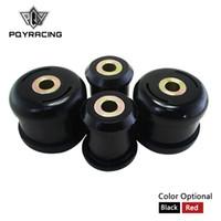 PQY RACING - Vordere Untersteuerungs-Armbuchsen für Honda Civic 01-05 für Acura RSX 02-06 Polyurethan schwarz, rot pqy-cab02