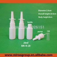 100 компл. / лот 20 мл HDPE белый пластиковый назальный спрей бутылка пустой нос спрей бутылка с 18/410 носовые оральные форсунки насос