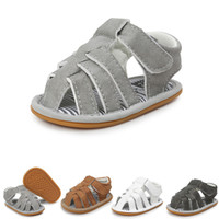 Romirus 2018 summer kids shoes brand closed toe toddler boys...