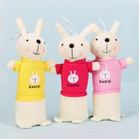 Sevimli Karikatür Kawaii Peluş Kalem Kutusu Yaratıcı Güzel Tavşan Kalem Çantası Çocuklar Hediye Okul Malzemeleri Kore Tarzı Kalem Kılıfı Çanta Kalem Kutusu