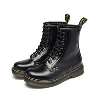 100% Genuine Leather Men Martin Boots All Season Motorcycle ...