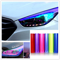 Car Tint Headlight Taillight Fog Light Vinyl Smoke Film Shee...