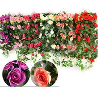 Simulation rose vine hanging artificial flower vines Living ...
