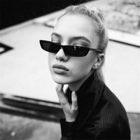 2018 Vintage Cat Eye Sunglasses Women Fashion Small Frame Su...