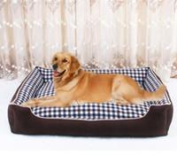 ل كلب كبير الكلاسيكية المشابك كلب سرير النوم القط جرو لينة الكلب بطانية حصيرة خريف شتاء دافئ بيت إسقاط الشحن