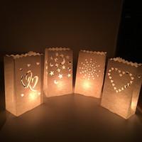 Творческий бумаги свечи сумки Рождество свадьба стол Центральный держатель свечи DIY ручной выдалбливают фонарь украшения 0 65zb YY