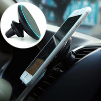 Qi Magnetic Wireless Car Charger Air Vent Mount Mount Holder 360 ° ajuste giratorio 5V / 2A para iPhone Samsung con paquete OTH743