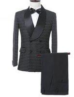 Solovedress Custom Mounte Mounts Suit Groom Fuxedos Fuxedos Forman Combols Двухбордовые Blazer Лучший мужской Костюм Свадьба (Куртка + Брюки)