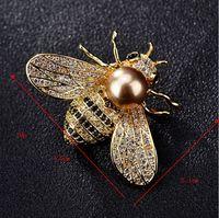 Fashion New Crystal Bee Brooch Accessori Femminili Accessori Hot ACQUA DI ACQUA DI ACQUA APERTA APE BUOCH BOOCH Ago Eccellente Supporto Personalizzazione