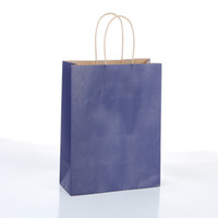 """Sacos do presente do partido da mercadoria da compra do varejo do papel de embalagem de 100 PCes 8 """"x4"""" x11 """"com punhos da corda"""