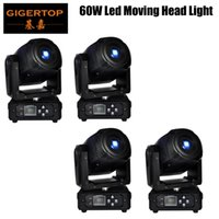 4 XLot Mini Spot 60 Watt LED Moving Head Licht Mit Gobos PlateColor Platte, Hohe Helligkeit 60 Watt Mini Led Moving Head Licht DMX512