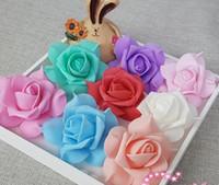 9 renkler 7 cm köpük gül çiçek el yapımı DIY düğün ev dekorasyon yapay çiçek GA81