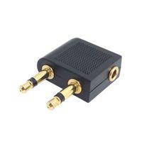 Adattatore di volo aereo aereo placcato dorato per cuffie auricolari per auricolare adattatore audio di alta qualità VELOCE VELOCE
