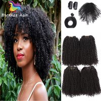 12- 16inch Brazilian Curly Synthetic Hair Weave Bundles Sewin...